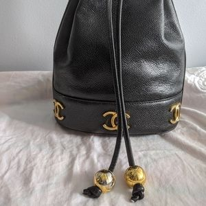 """CHANEL 9.5"""" tall bucket bag, authentic vintage 🤞"""